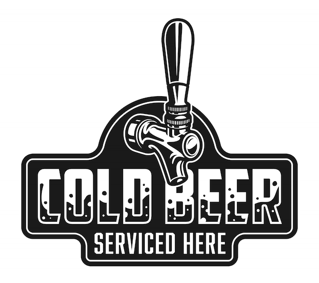 Modelo de logotipo vintage cerveja gelada Vetor grátis