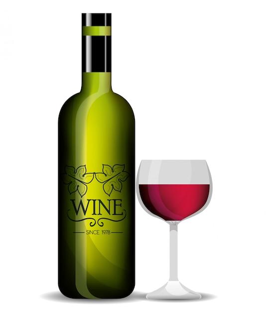 Modelo de loja de vinhos isolado ícone do design Vetor Premium