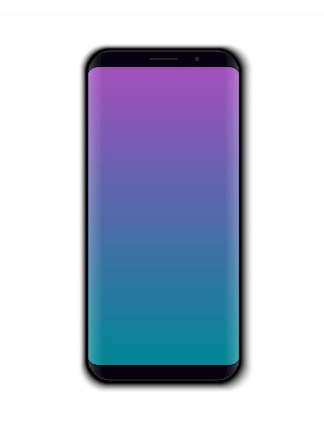Modelo de maquete de telefone móvel. Vetor Premium