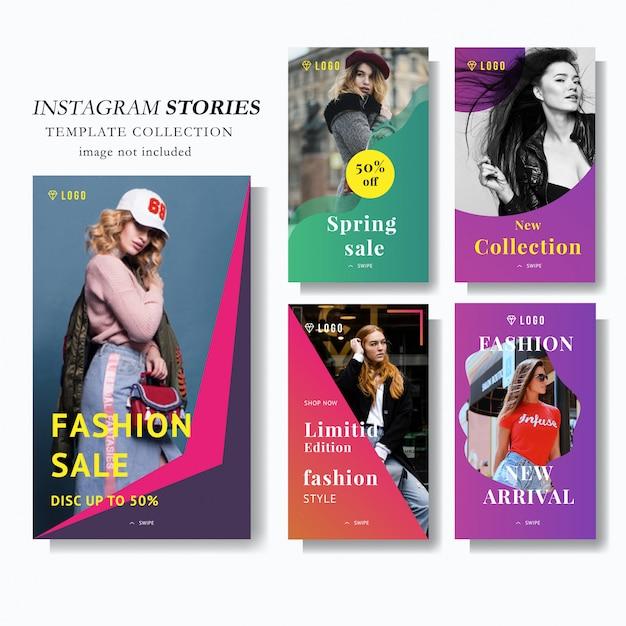 Modelo de marketing da história do instagram Vetor Premium