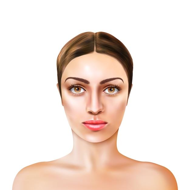 Modelo de menina realista Vetor grátis
