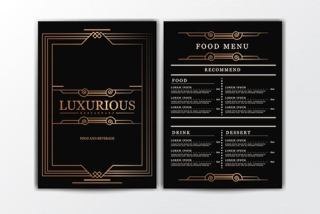 Modelo de menu de comida de restaurante Vetor Premium