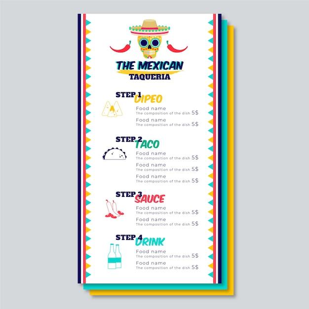 Modelo de menu de restaurante colorido Vetor grátis