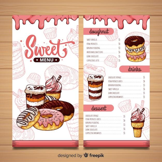 Modelo de menu do restaurante Vetor grátis
