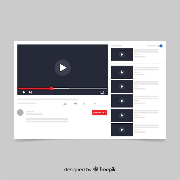 Modelo de mídia multimídia plana social media Vetor grátis