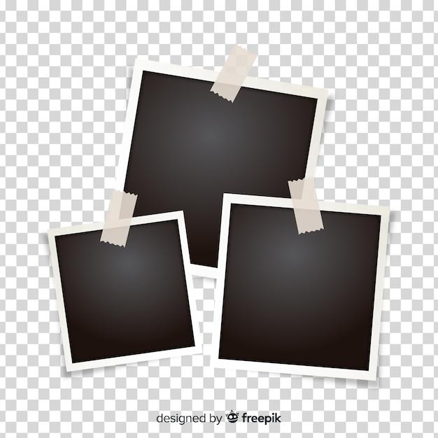 Modelo de molduras polaroid Vetor grátis