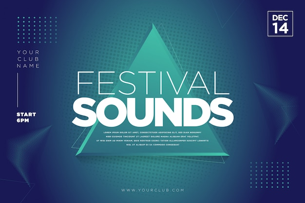 Modelo de música do festival Vetor Premium