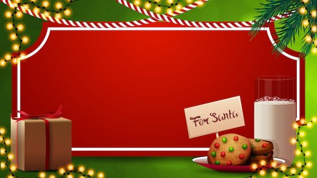 Modelo de natal com folha de papel vermelho em forma de bilhete vintage Vetor Premium