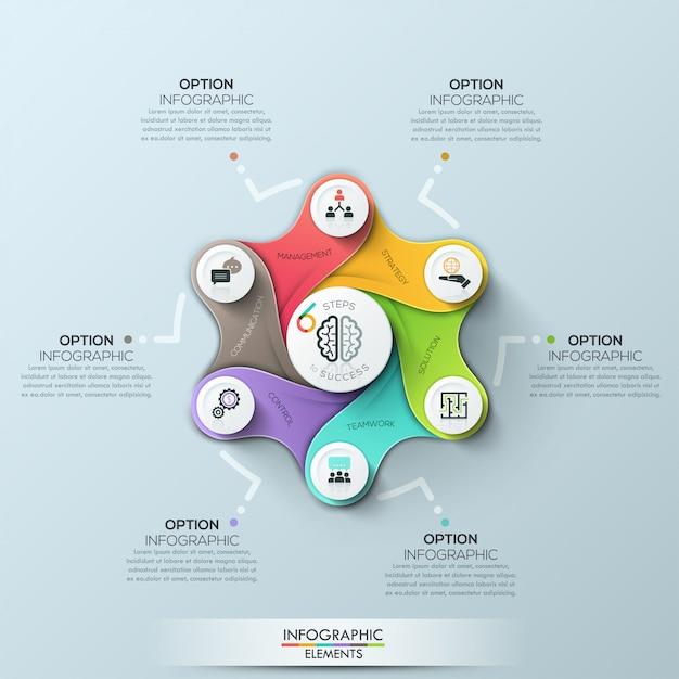 Modelo de negócio de círculo futurista. ilustração vetorial Vetor Premium