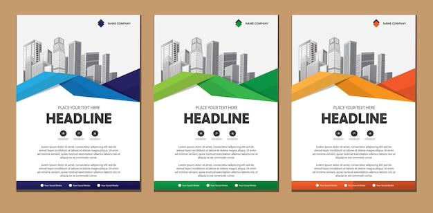 Modelo de negócio de folheto de layout de design Vetor Premium
