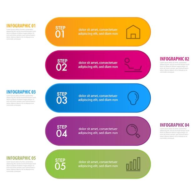 Modelo de negócio infográfico Vetor Premium