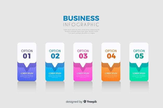 Modelo de negócio infográfico Vetor grátis