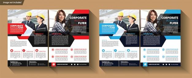 Modelo de negócios para flyer corporativo Vetor Premium