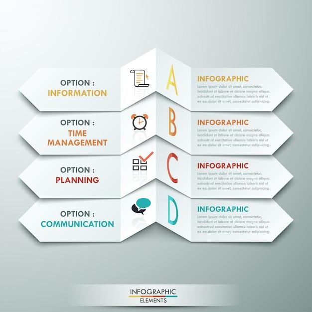 Modelo de opções de infografia moderna Vetor Premium
