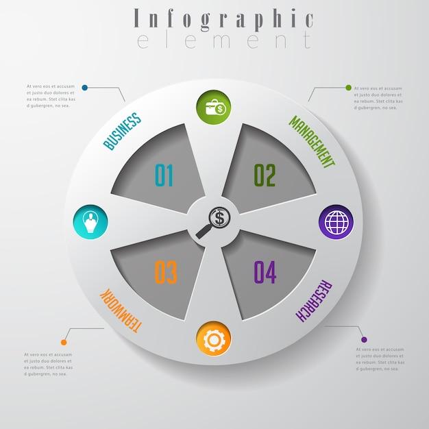 Modelo de opções de infográfico empresarial moderno design. Vetor Premium
