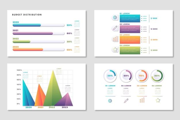 Modelo de orçamento infográfico Vetor grátis