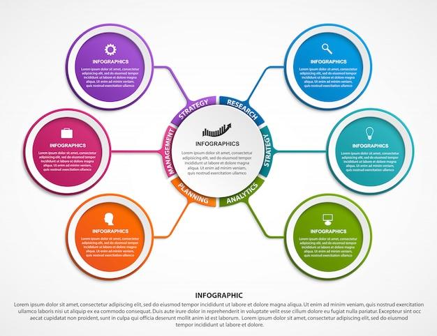 Modelo de organograma infográfico design. Vetor Premium