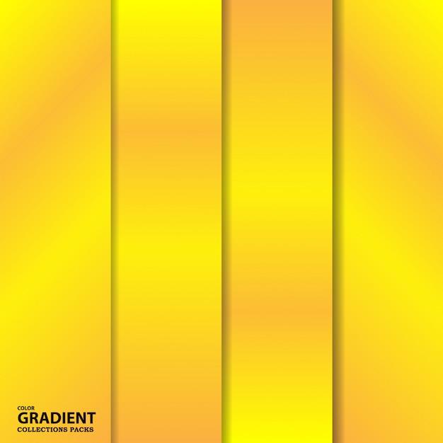 Modelo de pacote de coleção de cores de gradiente Vetor Premium
