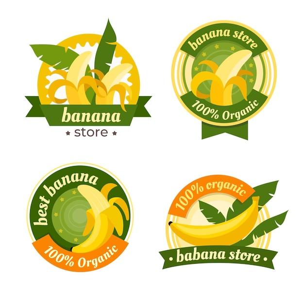 Modelo de pacote de logotipo banana Vetor grátis