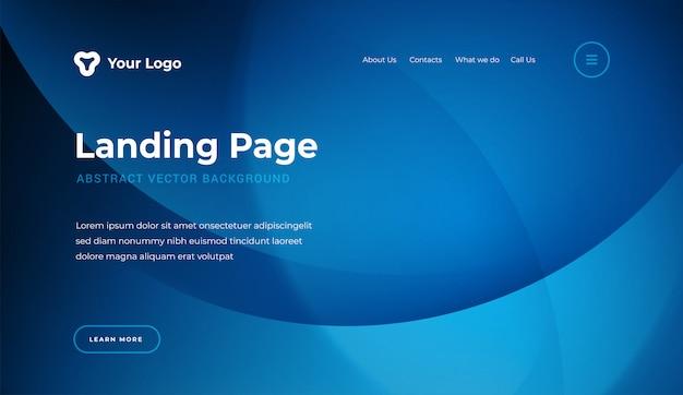 Modelo de página de aterrissagem de site abstrato estilo moderno Vetor Premium