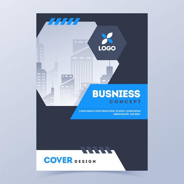 Modelo de página de capa promocional. Vetor Premium