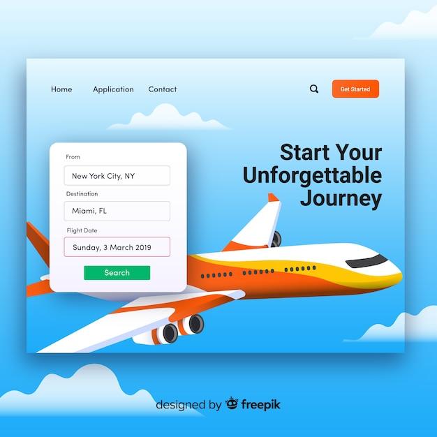 Modelo de página de destino da agência de viagens Vetor grátis
