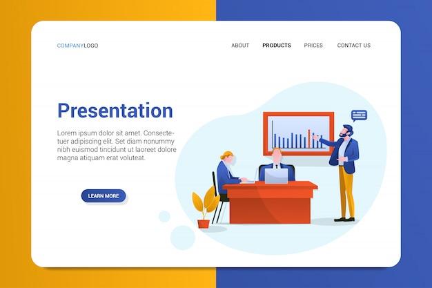 Modelo de página de destino da apresentação Vetor Premium