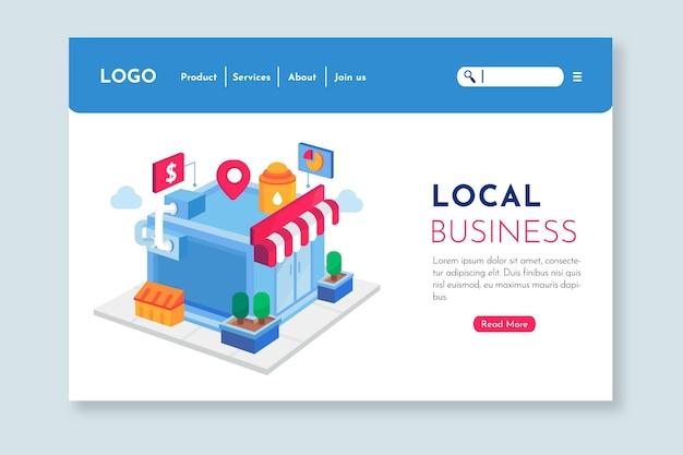 Modelo de página de destino da empresa local Vetor grátis