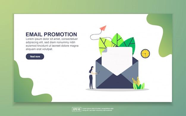 Modelo de página de destino da promoção por email. conceito moderno design plano de design de página da web para o site e site móvel. Vetor Premium