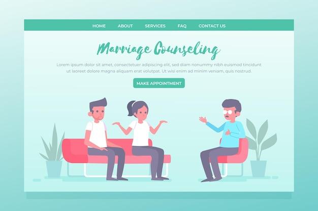 Modelo de página de destino de aconselhamento matrimonial Vetor grátis