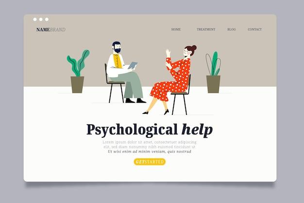 Modelo de página de destino de ajuda psicológica Vetor grátis