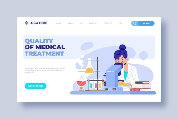 Modelo de página de destino de clínica de saúde Vetor grátis