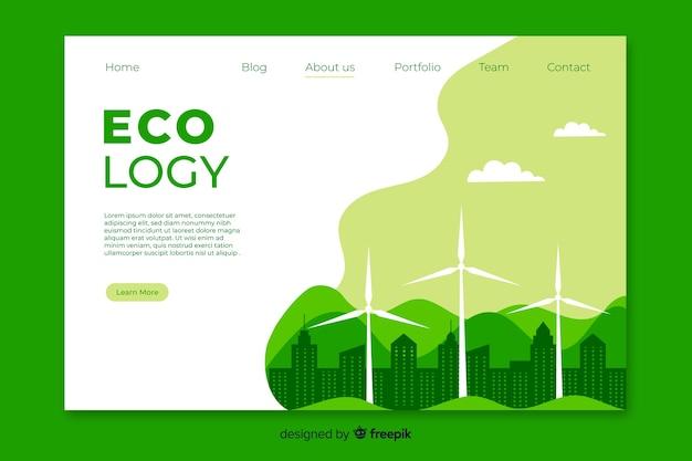 Modelo de página de destino de energia limpa Vetor grátis