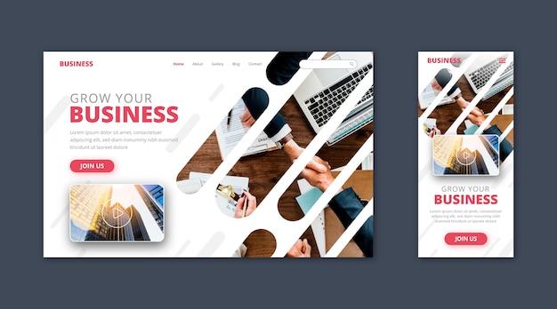 Modelo de página de destino de negócios Vetor grátis