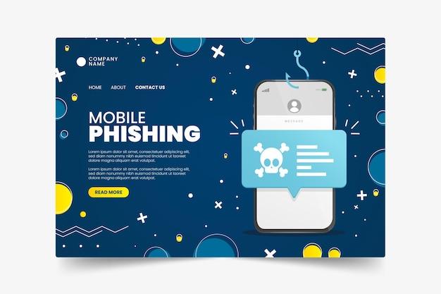 Modelo de página de destino de phishing para celular Vetor grátis