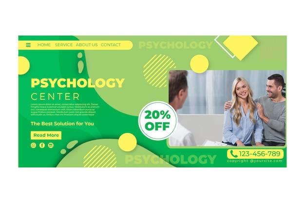 Modelo de página de destino de psicologia Vetor grátis