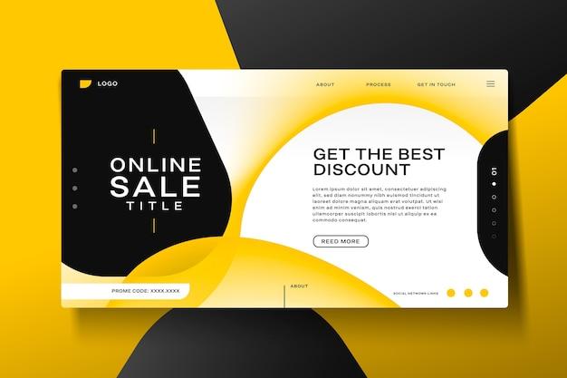 Modelo de página de destino de venda abstrata Vetor grátis