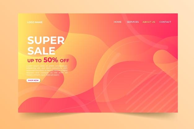 Modelo de página de destino de vendas abstrata Vetor grátis