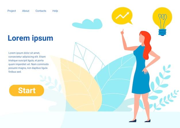 Modelo de página de destino de vetor de gerenciamento de projeto Vetor Premium
