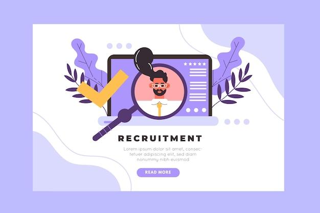 Modelo de página de destino do conceito de recrutamento Vetor grátis