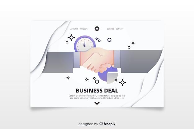Modelo de página de destino do negócio Vetor grátis