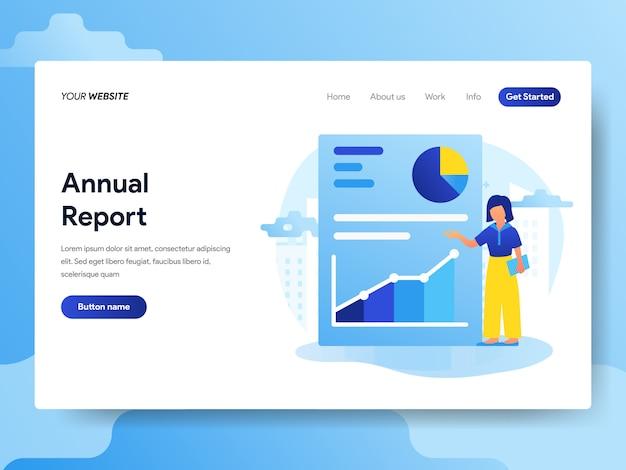 Modelo de página de destino do relatório anual Vetor Premium