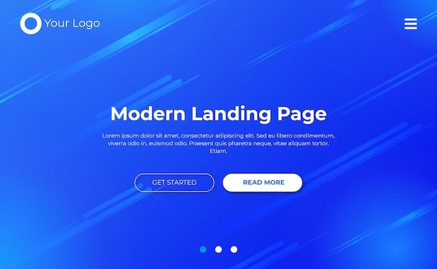 Modelo de página de destino do site Vetor Premium