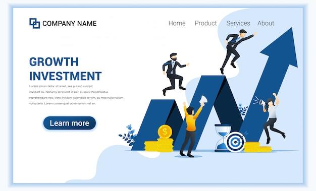 Modelo de página de destino financeira Vetor Premium