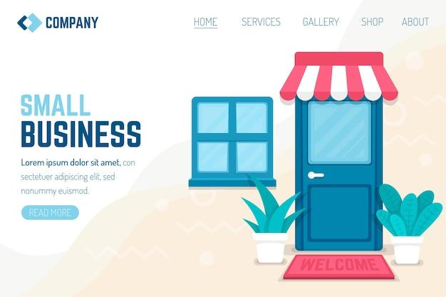 Modelo de página de destino para pequenas empresas Vetor grátis