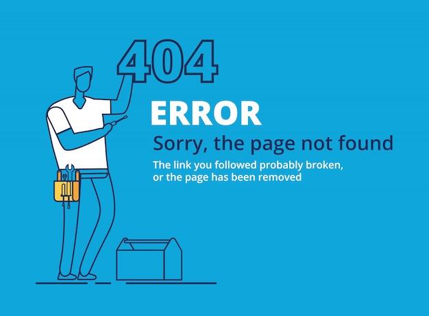 Modelo de página de erro 404 Vetor Premium