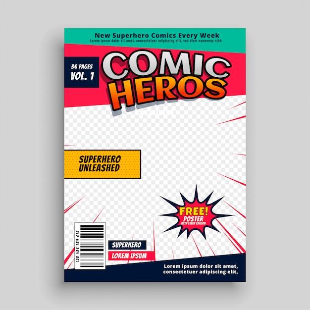 Modelo de página de revista em quadrinhos Vetor grátis