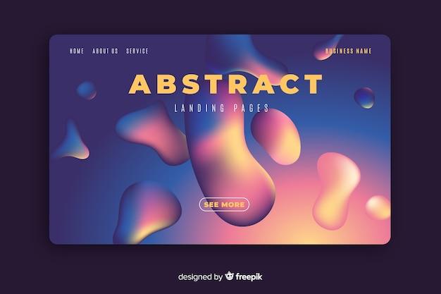 Modelo de página inicial de efeito líquido abstrato Vetor grátis