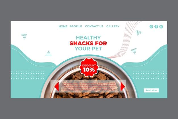 Modelo de página inicial de pet food com foto Vetor grátis