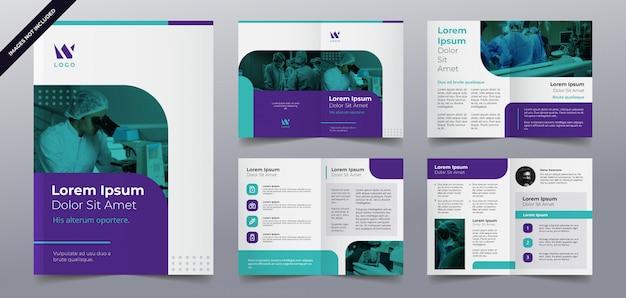 Modelo de páginas de brochura médica Vetor Premium